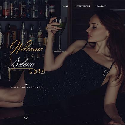 Concept website pentru un restaurant – Selena