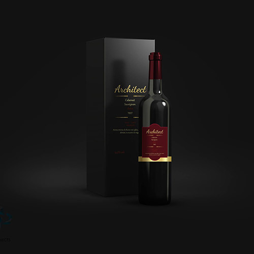 Design eticheta si ambalaj Architect Wines