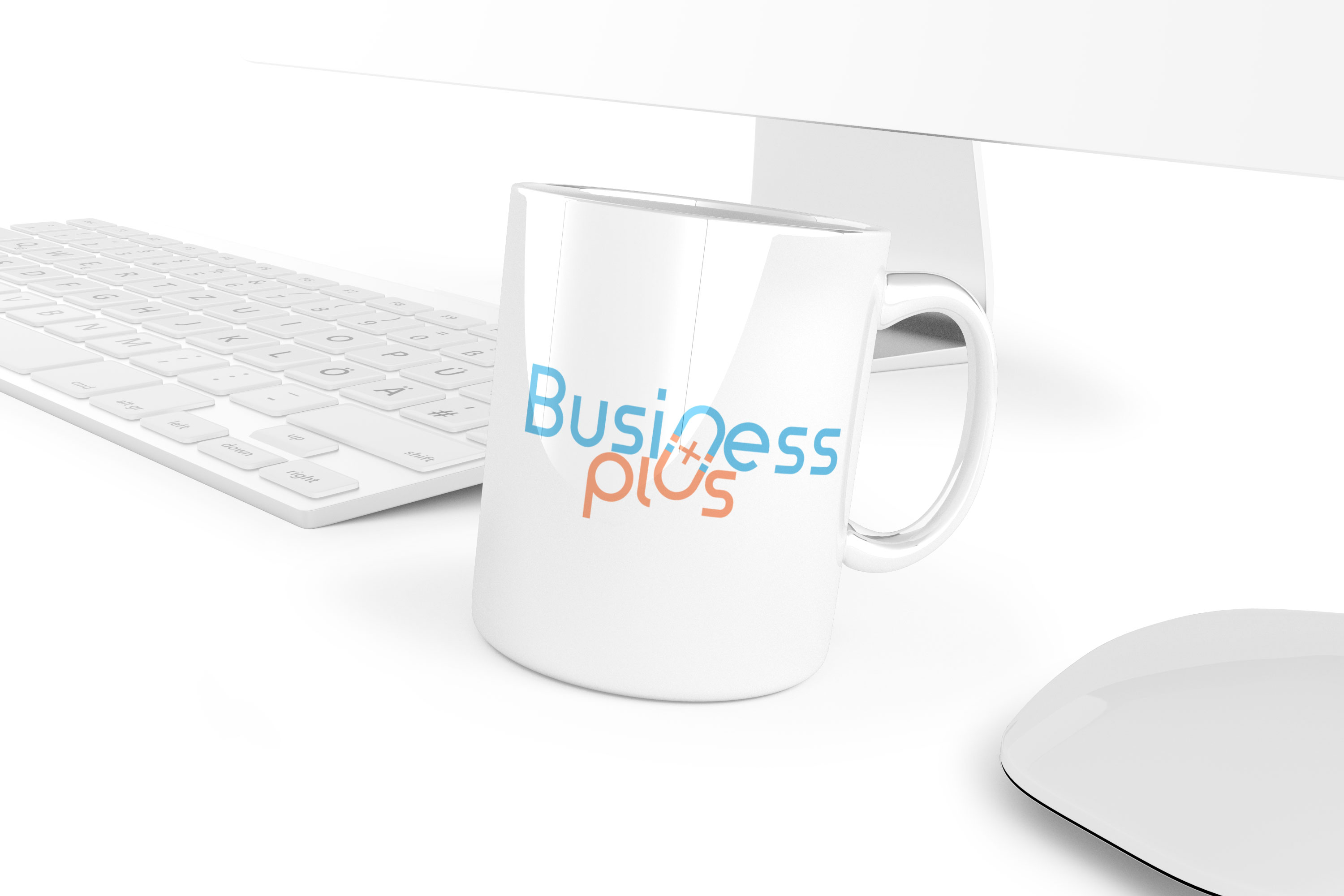 logo design business plus