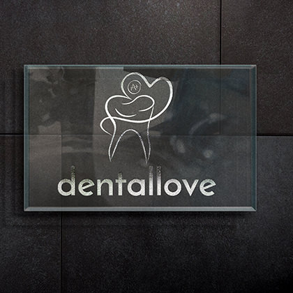 Logo Design Dental Love