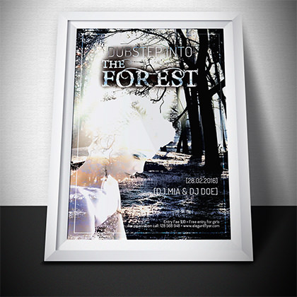 Design Poster – DUBstep Into The Forest