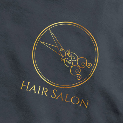 Concept logo design hair stylist