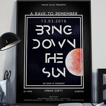Design Poster – Bring down the sun