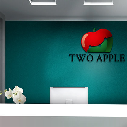 Logo Design Two Apple