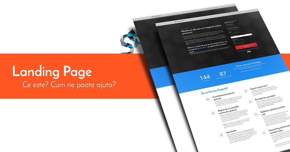 landing page - ce este o pagina de prezentare si cum ne poate ajuta sa ne promovam produsele?