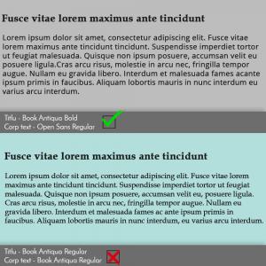 potrivire fonturi pe website