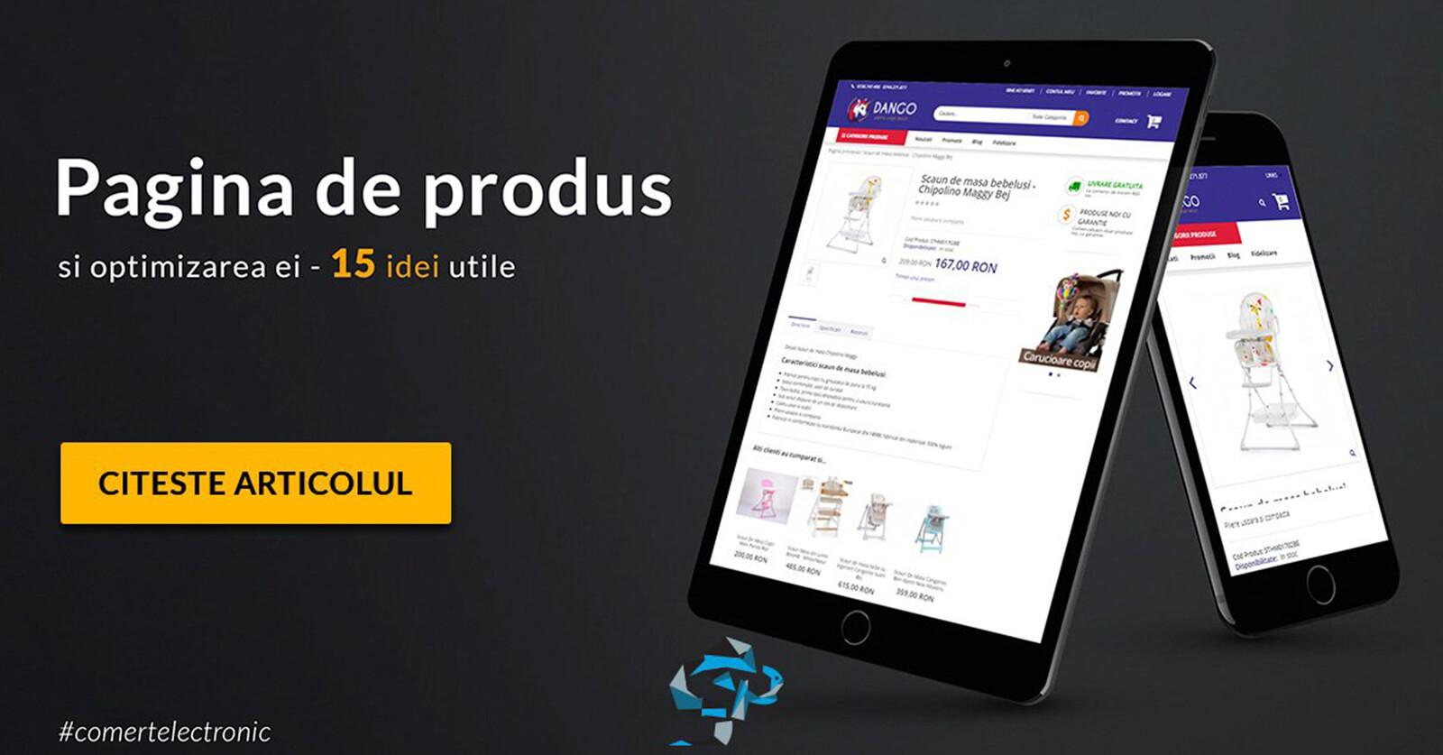 Pagina de produs si optimizarea ei in cadrul magazinului tau online