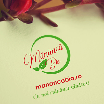 Logo vector si redesign blog Mananca Bio