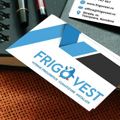 Logo design premium vector pentru FrigoVest