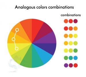 culori analogice logo design